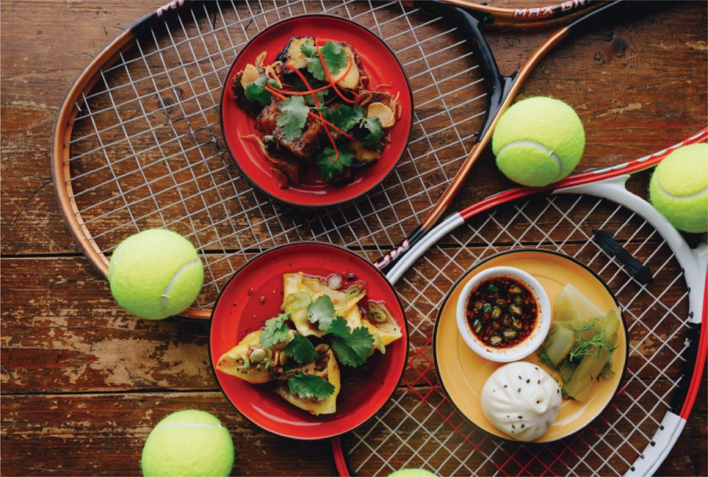 تغذیه پس از بازی تنیس