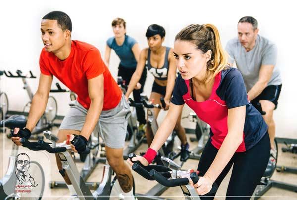 دوچرخه سواری داخل سالن